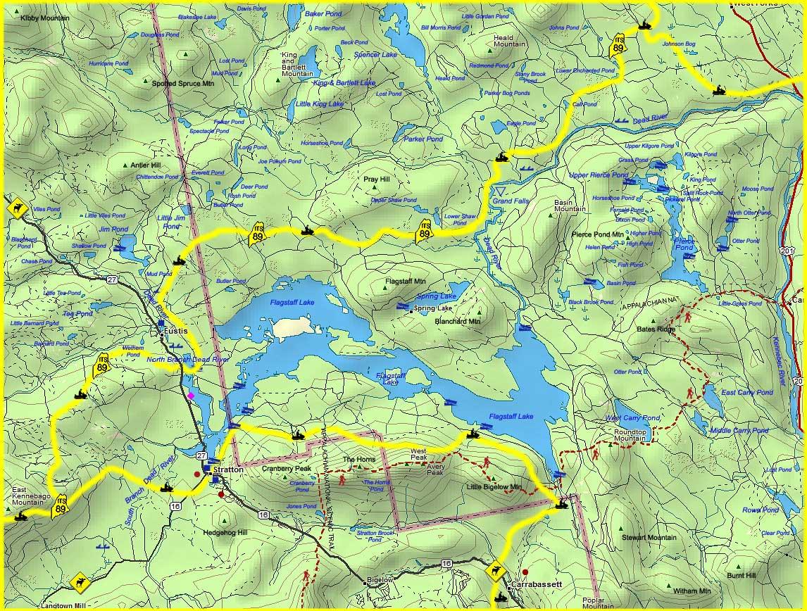 maine's rangeley lakes region map  lodging  campgrounds map  - maine's rangeley lakes region map  lodging  campgrounds map  flagstafflake